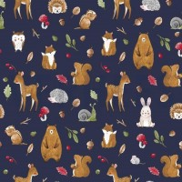 Forest Animals In Blue Tricot