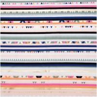 Multi Stripes Hot Foil In Katoen