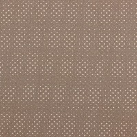 Petit Dots in Taupe Cotton