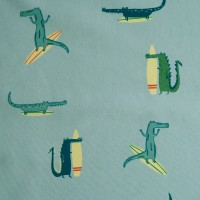 Surfing Crocodile Popeline Cotton