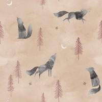 Wolf Howl Popeline Cotton