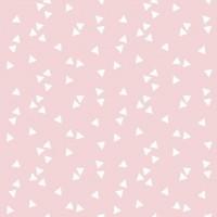 White Triangle in Rose Cotton