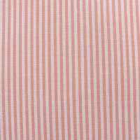 Yarn Dyed Strip 3mm in Coral Cotton