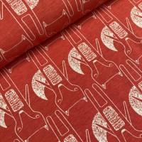 Fox Benno In Bright Red Melange Tricot