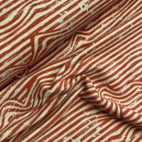 Stripes Benno In Bright Red Melange Tricot