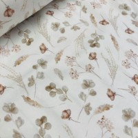 Romantic Dried Flowers in Offwhite Tricot
