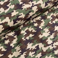 Army Print in Multi Katoen