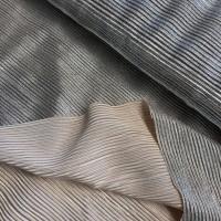 Shiny Salmon-Silver Plissé