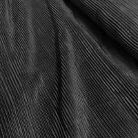 Shiny Black Plissé