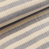 Soft Blue Stripes in Offwhite Katoen