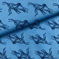 Grass Hopper in Denim Blue Tricot