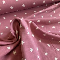 Stars In Soft Rose Tricot