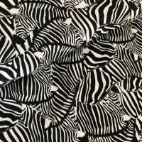 Zebra In Offwhite Viscose