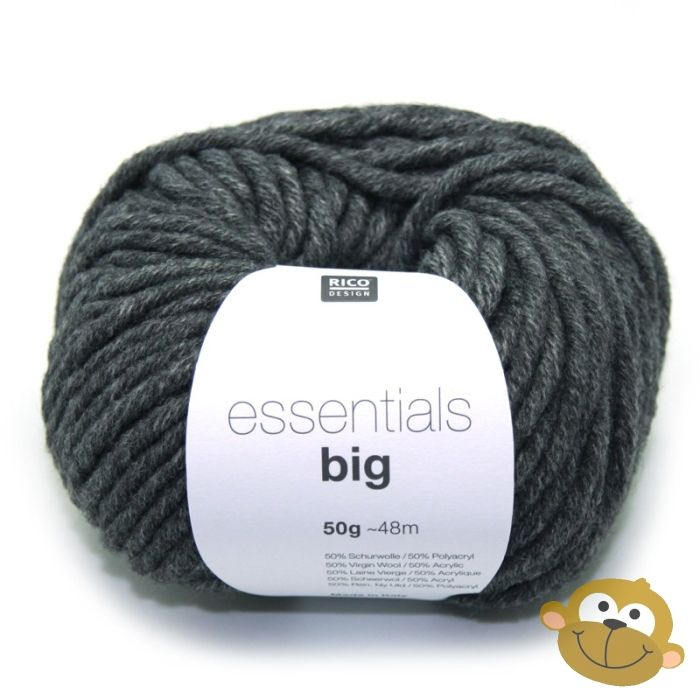 Breiwol Rico Essentials Big 50g Grey Melange