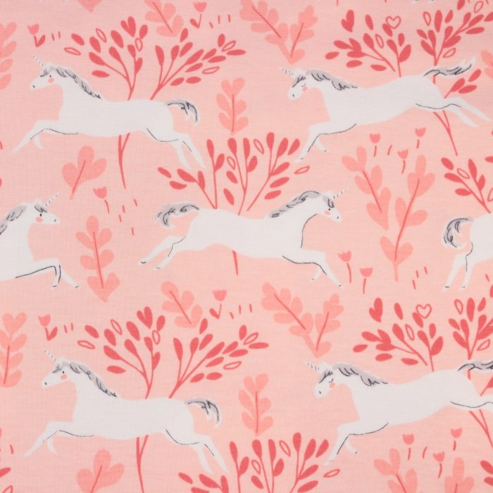 Unicorn Forest  In Blossom Pink Tricot