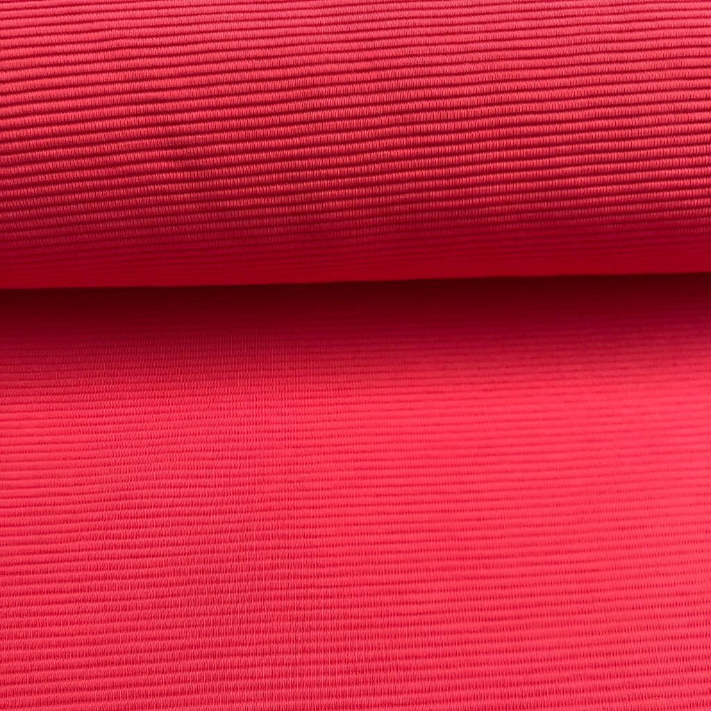 Reliëf Stripes In Lipstick Rose PolyesterTricot