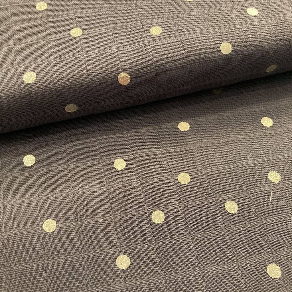 Gold Dots in Anthracite Katoen