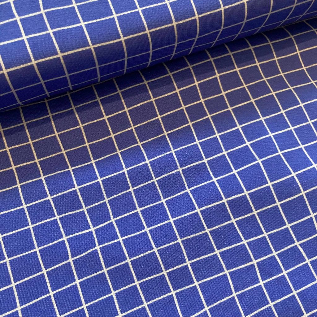 Little Friends Squares In Cobalt French Terry