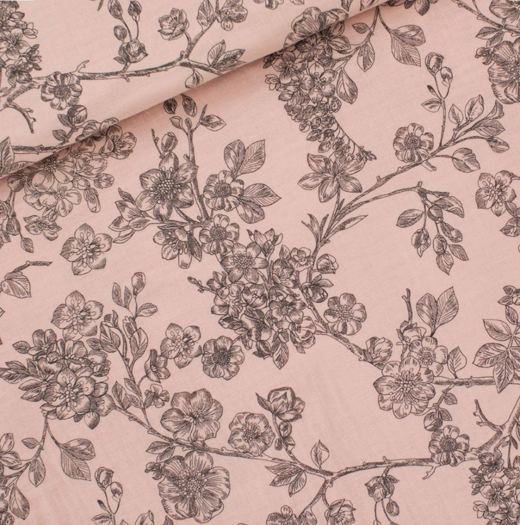 Cherry Blossom L In Pale Pink French Terry