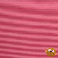Small Raspberry Stripes In Pink Tricot
