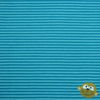 Blue Stripes In Turquoise Tricot