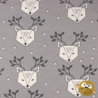 Dear Deer In Grey Tricot