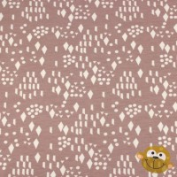 Diamond & Dots  In Pink Mauve Tricot