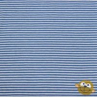 Small Cobalt Blue  Stripes In White Tricot