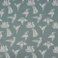 Origami Birds In Mint Tricot