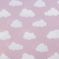White Clouds  In Pastel Rose  Canvaskatoen