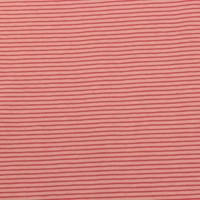 Raspberry Pink Stripes  In Soft Pink Tricot