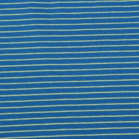Yellow  Stripes  In Cobalt Blue Tricot