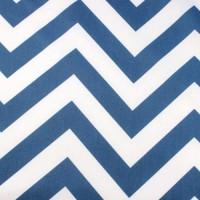 Big Blue Chevron In White Katoen