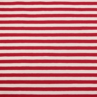 Big Red  Stripes In White Tricot