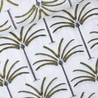 Palms  In Offwhite  Cotton Lawn