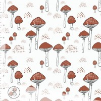 Amanita Mushrooms In Offwhite Tricot