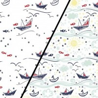 Boats  In White Magic Tricot (change) PRE-ORDER