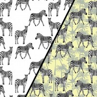 Zebras  In White Magic Tricot (change) PRE-ORDER