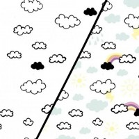 Clouds And Rainbows  In White Magic Tricot (change) PRE-ORDER
