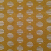 White Circles In Yellow Knitted Jacquard