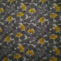 Asia Ginkgo Mies & Moos  In Grey Tricot