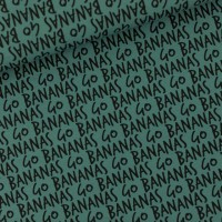 Go Bananas M In Silver Pine Green French Terry