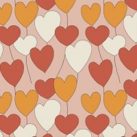Happy Heart In Dusty Pink Tricot