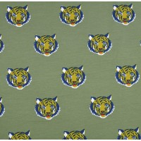 Tigers In Green  Bio Tricot