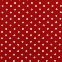 Dots in Red Cotton