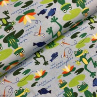 Funny Frogs In Blue Tricot