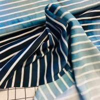 Ocean Views In Blue Shades Pannel Viscose