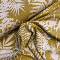Hawaii In Mustard Green Viscose Tricot