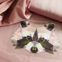 Sweater L Racoon Pastel Pink (152 - 170)