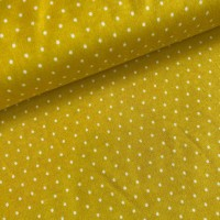 Little Dots In Mustard Yellow Tricot